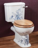 Victorian Decorated Close Coupled Pan & Cistern