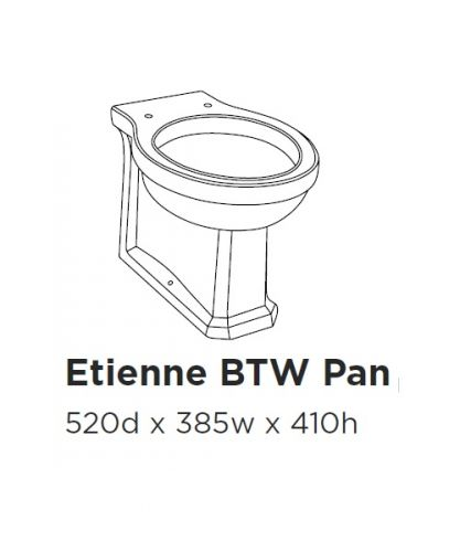 Etienne Back to wall pan